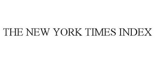 mark for THE NEW YORK TIMES INDEX, trademark #78943771