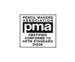 mark for PENCIL MAKERS ASSOCIATION PMA CERTIFIED CONFORMS TO ASTM STANDARDS D4236, trademark #78944160