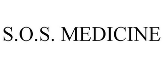 mark for S.O.S. MEDICINE, trademark #78944990