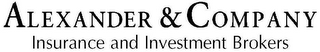 mark for ALEXANDER & COMPANY INSURANCE AND INVESTMENTS, trademark #78948585