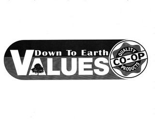 mark for DOWN TO EARTH VALUES CO-OP QUALITY PRODUCTS, trademark #78948629