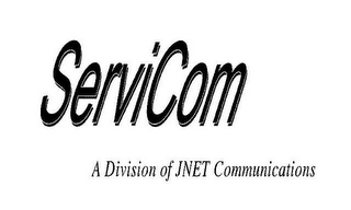 mark for SERVI COM A DIVISION OF JNET COMMUNICATIONS, trademark #78953180