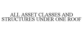 mark for ALL ASSET CLASSES AND STRUCTURES UNDER ONE ROOF, trademark #78953944