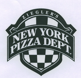 mark for ZIEGLER'S NEW YORK PIZZA DEPT., trademark #78954440