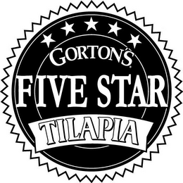 mark for GORTON'S FIVE STAR TILAPIA, trademark #78954854