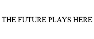 mark for THE FUTURE PLAYS HERE, trademark #78957742
