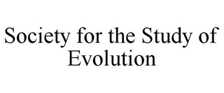 mark for SOCIETY FOR THE STUDY OF EVOLUTION, trademark #78959251