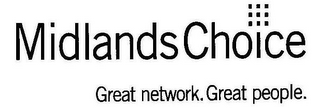 mark for MIDLANDS CHOICE GREAT NETWORK. GREAT PEOPLE., trademark #78959709