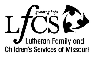 mark for LFCS GROWING HOPE LUTHERAN FAMILY AND CHILDREN'S SERVICES OF MISSOURI, trademark #78960646