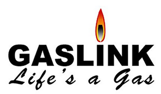 mark for GASLINK LIFE'S A GAS, trademark #78967300