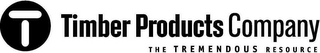 mark for T TIMBER PRODUCTS COMPANY THE TREMENDOUS RESOURCE, trademark #78969548