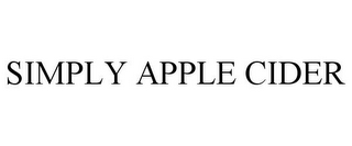 mark for SIMPLY APPLE CIDER, trademark #78971576
