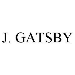 mark for J. GATSBY, trademark #78977282