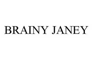 mark for BRAINY JANEY, trademark #78977749