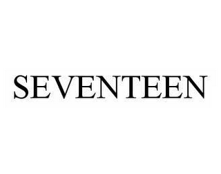 mark for SEVENTEEN, trademark #78978119