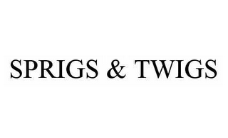 mark for SPRIGS & TWIGS, trademark #78978185