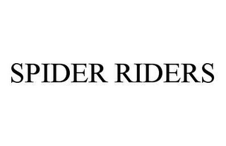 mark for SPIDER RIDERS, trademark #78978490