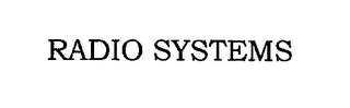 mark for RADIO SYSTEMS, trademark #78978616