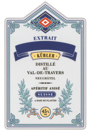 mark for EXTRAIT KÜBLER, trademark #79003346