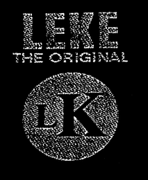 mark for LEKE THE ORIGINAL LK, trademark #79023015