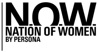 mark for N.O.W. NATION OF WOMEN BY PERSONA, trademark #79034520