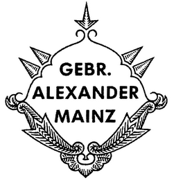 mark for GEBR. ALEXANDER MAINZ, trademark #79037711