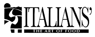 mark for ITALIANS' THE ART OF FOOD, trademark #79039371
