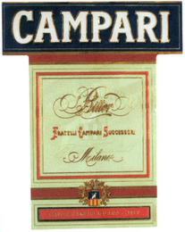 mark for CAMPARI BITTER FRATELLI CAMPARI SUCCESSORI MILANO - DAVIDE CAMPARI MILANO - ITALY, trademark #79046701