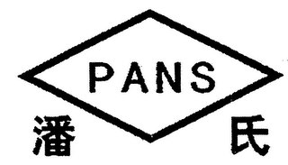mark for PANS, trademark #79049703