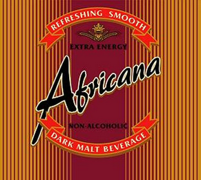 mark for AFRICANA REFRESHING SMOOTH NON-ALCOHOLIC DARK MALT BEVERAGE EXTRA ENERGY, trademark #79069043