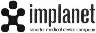 mark for IMPLANET SMARTER MEDICAL DEVICE COMPANY, trademark #79077771