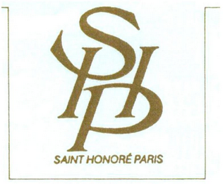 mark for SHP SAINT HONORÉ PARIS, trademark #79079477
