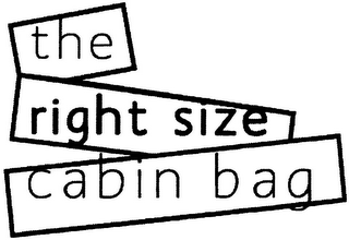 mark for THE RIGHT SIZE CABIN BAG, trademark #79084870