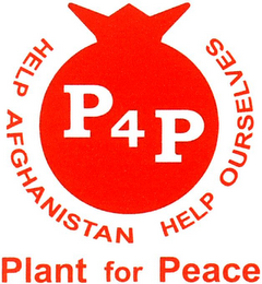 mark for P4P HELP AFGHANISTAN HELP OURSELVES PLANT FOR PEACE, trademark #79091963