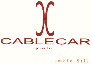 mark for CC CABLECAR JEWELRY ... MEIN STIL., trademark #79092329