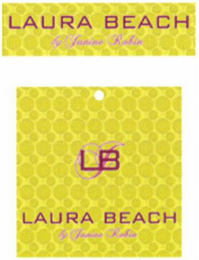 mark for LAURA BEACH BY JANINE ROBIN LBJ, trademark #79096223