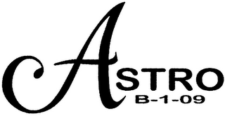 mark for ASTRO B-1-09, trademark #79096982