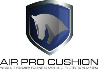 mark for AIR PRO CUSHION WORLD'S PREMIER EQUINE TRAVELLING PROTECTION SYSTEM, trademark #79097801