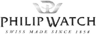 mark for PW PHILIP WATCH SWISS MADE SINCE 1858, trademark #79098580