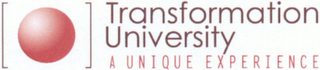 mark for TRANSFORMATION UNIVERSITY A UNIQUE EXPERIENCE, trademark #79099935