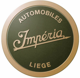 mark for IMPÉRIA AUTOMOBILES LIEGE, trademark #79100325