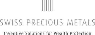 mark for SWISS PRECIOUS METALS INVENTIVE SOLUTIONS FOR WEALTH PROTECTION, trademark #79102370