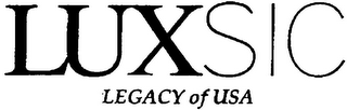mark for LUXSIC LEGACY OF USA, trademark #79102994