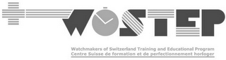 mark for WOSTEP WATCHMAKERS OF SWITZERLAND TRAINING AND EDUCATIONAL PROGRAM CENTRE SUISSE DE FORMATION ET DE PERFECTIONNEMENT HORLOGER, trademark #79105667
