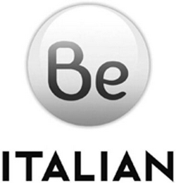 mark for BE ITALIAN, trademark #79106113