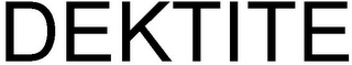 mark for DEKTITE, trademark #79106590