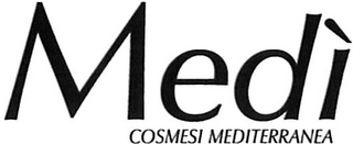 mark for MEDÌ COSMESI MEDITERRANEA, trademark #79107035
