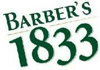 mark for BARBER'S 1833, trademark #79107176