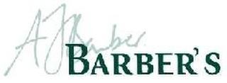 mark for AJ BARBER BARBER'S, trademark #79107253