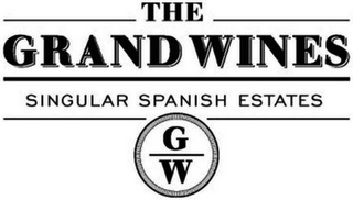 mark for THE GRAND WINES SINGULAR SPANISH ESTATES GW, trademark #79109746